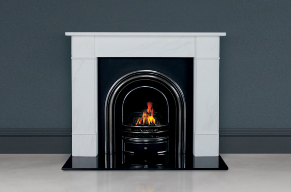"Flat Victorian Classic 58"" in White Marble"